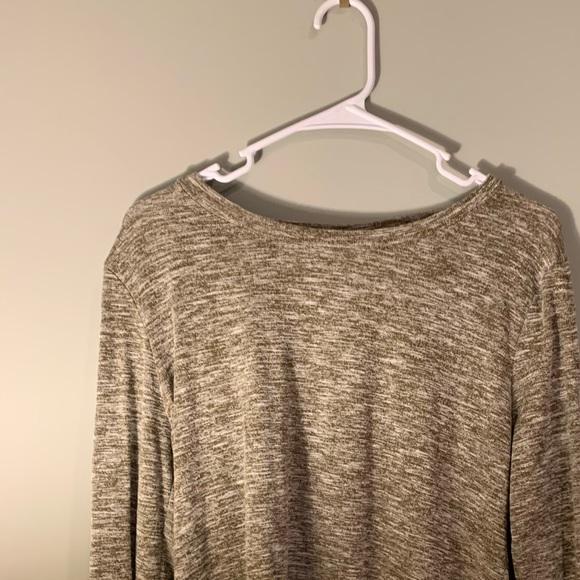 Belle Du Jour Olive Criss-Cross Sweater Top